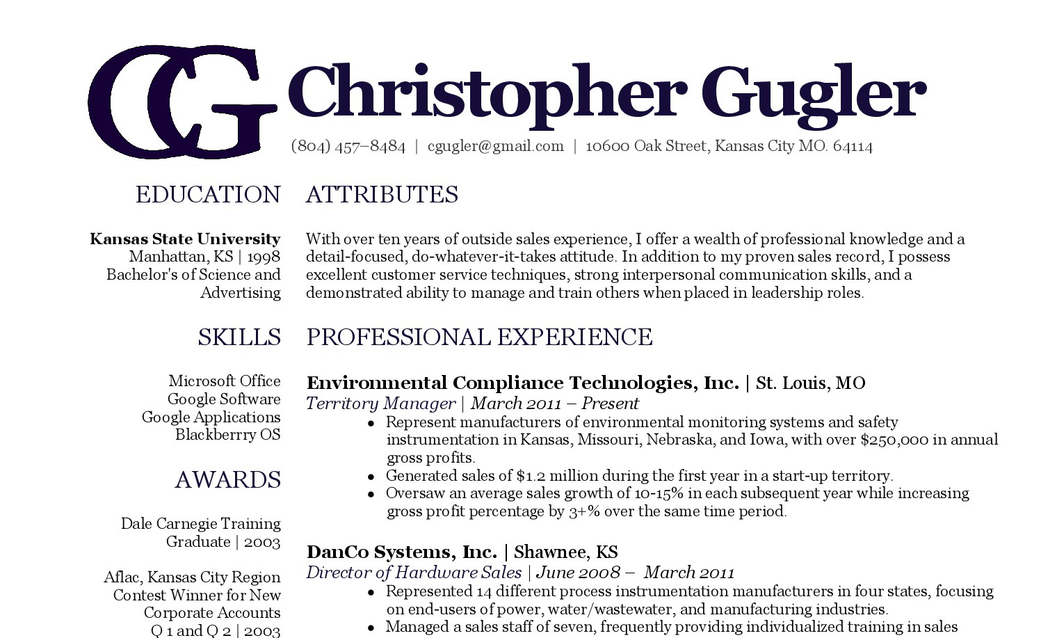 Tommy Johnson Chris Gugler S Resume Resume Writing By Tommy Johnson