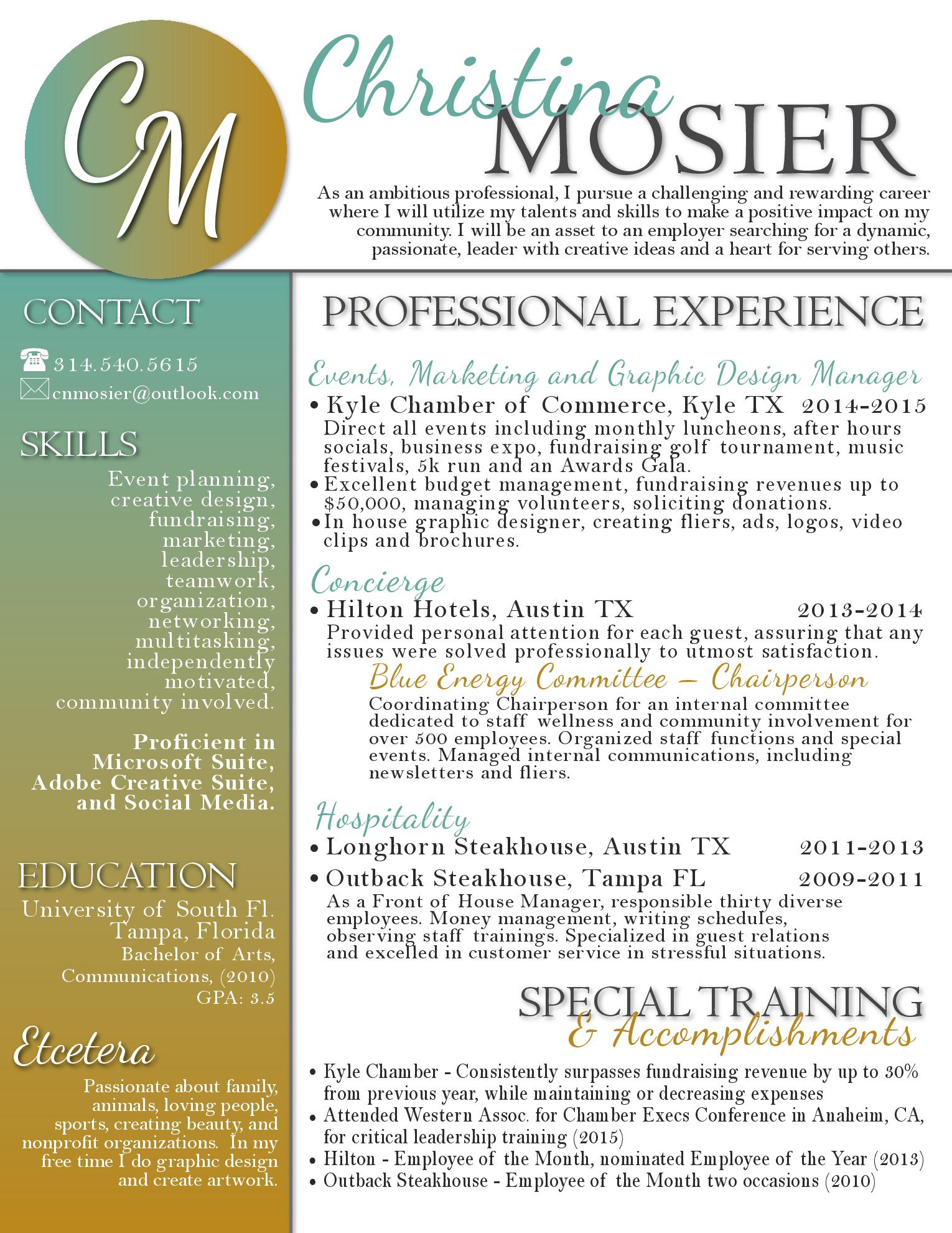 Tommy Johnson Christina Mosier Resume Resume Writing By Tommy Johnson